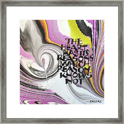 The Heart Has Its Reasons Framed Print
