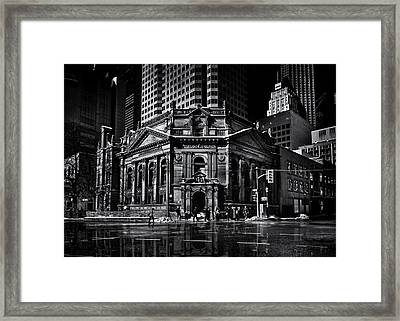 The Hockey Hall Of Fame Toronto Canada Reflection Framed Print by Brian Carson