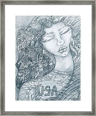 The Immigrant Heart Framed Print