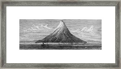 The Island Of Krakatoa Framed Print by Kean Collection