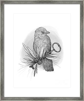 The Keeper Of The Key Framed Print