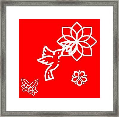 The Kissing Flower On Flower Framed Print