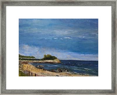 The Knob, Falmouth Framed Print