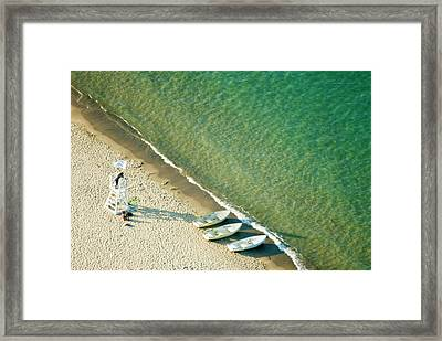 The Lady And Her Guard Framed Print by By Ken Ilio