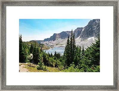 The Lakes Of Medicine Bow Peak Framed Print