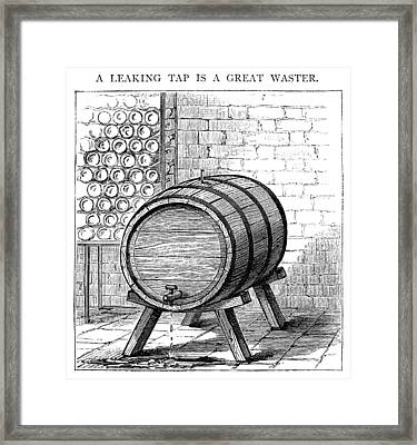 The Leaking Tap Is A Great Waster Framed Print by Whitemay