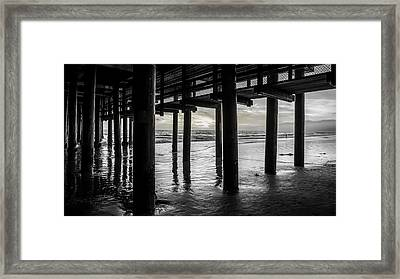 The Light Downunder - B And W Framed Print