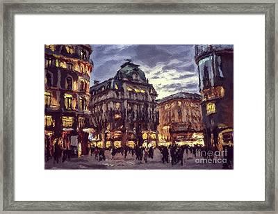 The Lights Of Vienna Framed Print