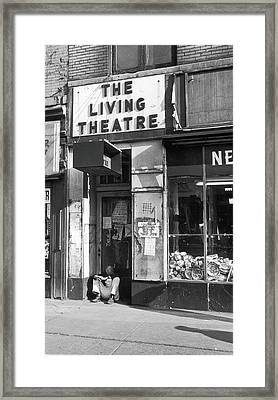 The Living Theatre, Closed Framed Print by Fred W. McDarrah