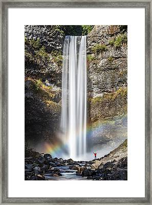 Framed Print featuring the photograph The Majestic Brandywine Falls by Pierre Leclerc Photography