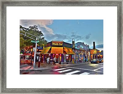 The Middle East In Cambridge Central Square Dusk Framed Print