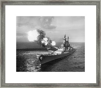 The Mighty Mo Framed Print by Central Press