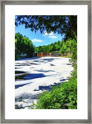 The Mighty Tahquamenon Framed Print