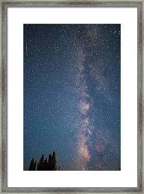 The Milky Way In Arizona Framed Print