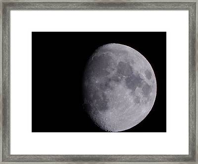 Framed Print featuring the photograph The Moon by Lukas Miller