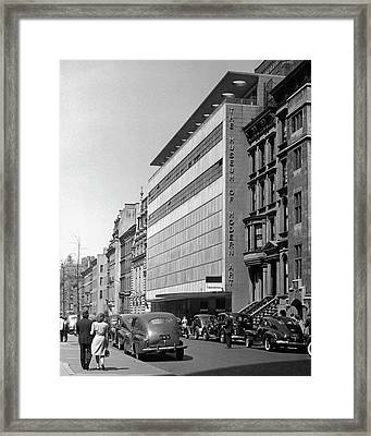 The Museum Of Modern Art, New York City Framed Print by George Marks