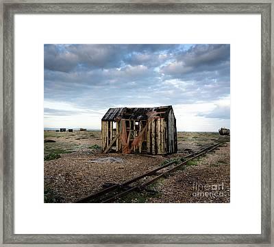 The Net Shack, Dungeness Beach Framed Print
