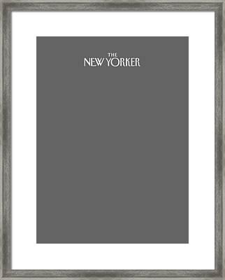The New Yorker Logo - Back Of Apparel Framed Print