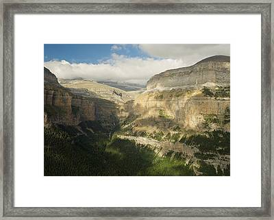 Framed Print featuring the photograph The Ordesa Valley by Stephen Taylor