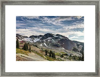 Framed Print featuring the photograph The Peak Of Whistler Mountain With Amazing Cloud Formations by Pierre Leclerc Photography