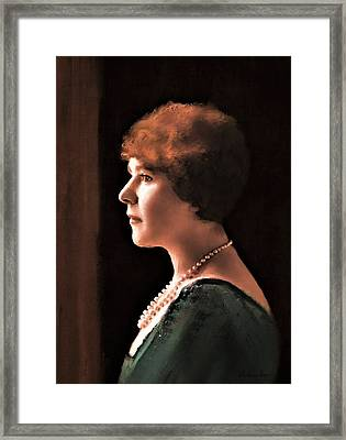 The Pearl Necklace Framed Print