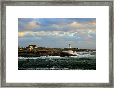 The Peggy's Cove Seascape Framed Print