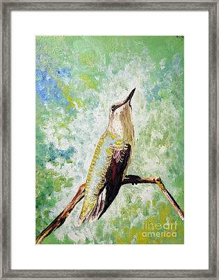 The Perch Framed Print