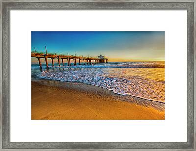 The Pier At Sunset Framed Print by Fernando Margolles