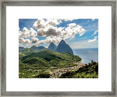 The Piton Twins Framed Print