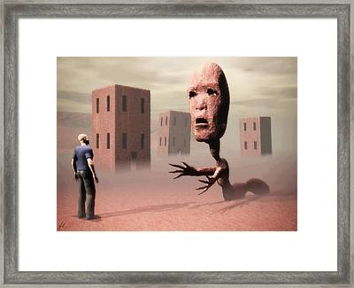 The Politician And I Framed Print
