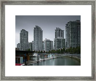 The Quayside Marina - Yaletown Apartments Vancouver Framed Print