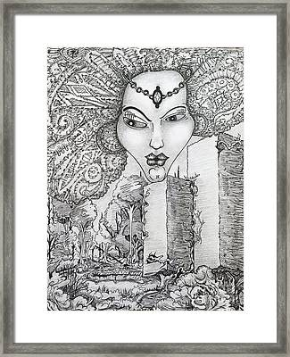 The Queen Of Oz Framed Print