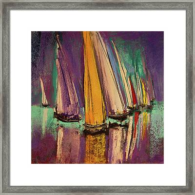 Framed Print featuring the pastel The Race by David Patterson
