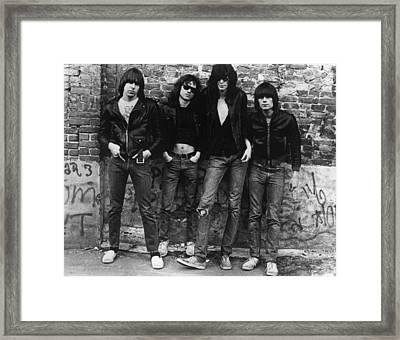 The Ramones Framed Print by Roberta Bayley