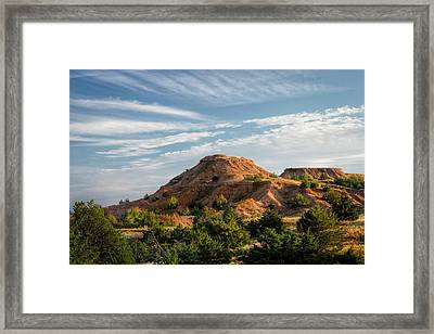 Framed Print featuring the photograph The Red Hills by Scott Bean