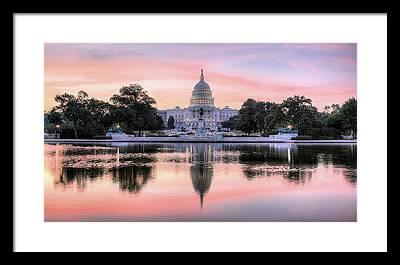 State Capital Framed Prints