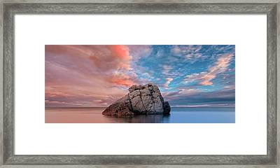 The Rock And The Sea Framed Print