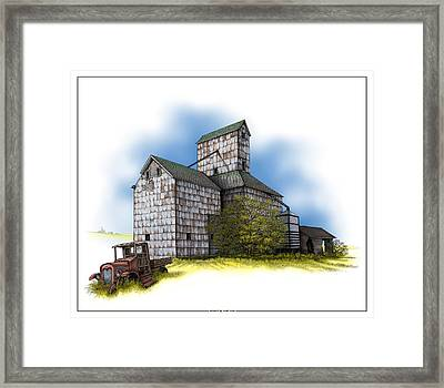 The Ross Elevator Autumn Framed Print