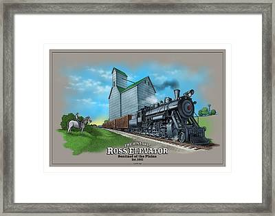 The Ross Elevator Sentinel Of The Plains Framed Print
