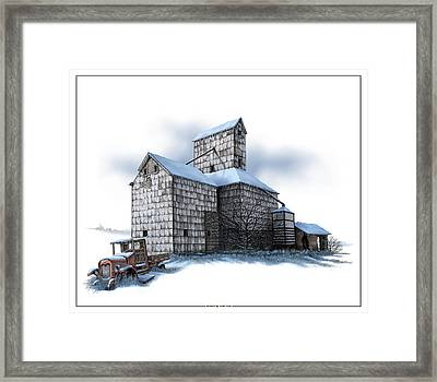 The Ross Elevator Winter Framed Print