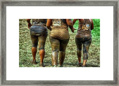The Shapes Of Mud Framed Print by Steven Digman