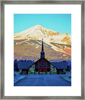 Framed Print featuring the photograph The Soldiers Chapel by Pete Federico