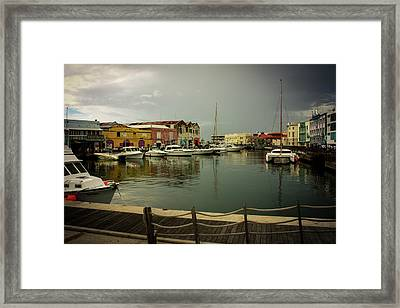 The Storm's A Coming. Framed Print