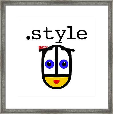 The Style Framed Print