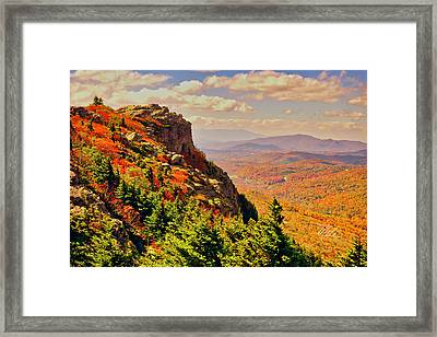 The Summit In Fall Framed Print