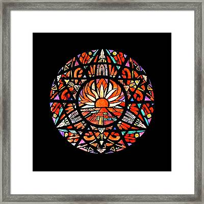the Sun is Aflame Framed Print