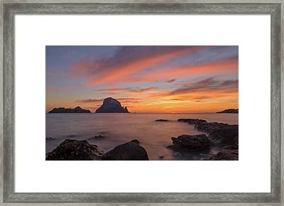 The Sunset On The Island Of Es Vedra, Ibiza Framed Print
