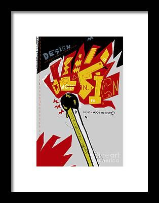 Flammable Framed Prints