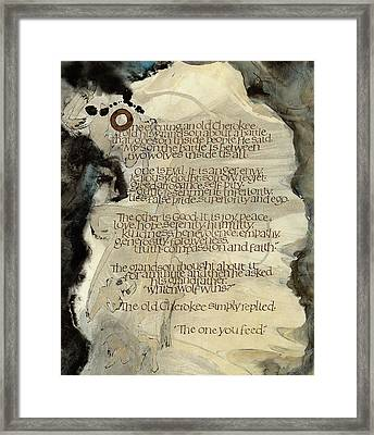 The Tale Of Two Wolves Framed Print