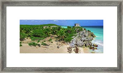 The Temple By The Sea Framed Print
